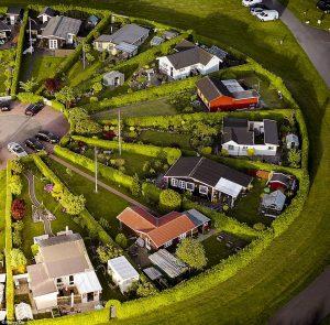 Jardines circulares en Dinamarca