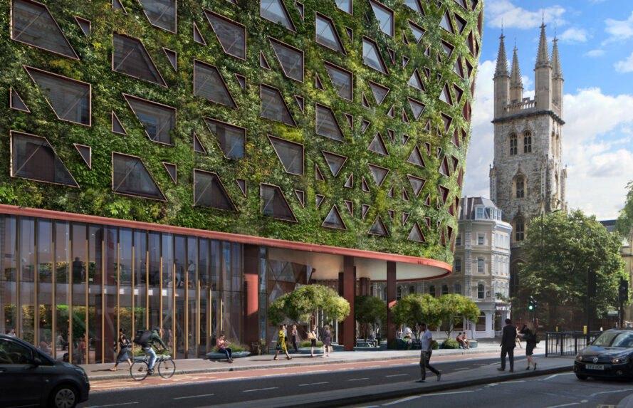 Muro verde Londres-Imágen de Sheppard Robson